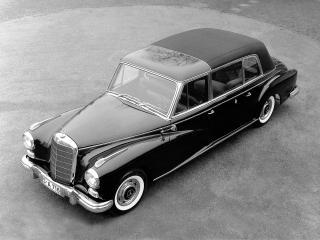обои Mercedes-Benz 300d Pullman Landaulet Popemobile (W189) 1960 бок фото