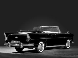обои Simca Vedette Presidence Cabriolet 1957 зад фото