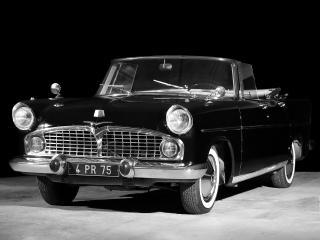 обои Simca Vedette Presidence Cabriolet 1957 перед фото