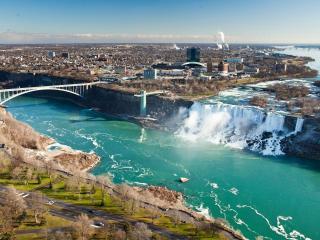 обои Каскад красивых водопадов Америки фото