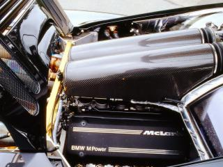 обои для рабочего стола: McLaren F1 XP5 1993 мотор