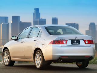 обои Acura TSX 2003 серебристая фото