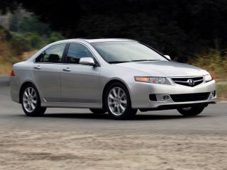 обои Acura TSX 2006 серебристая фото