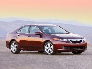 обои Acura TSX 2008 красная фото