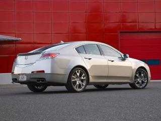 обои Acura TL SH-AWD 2008 красная стена фото