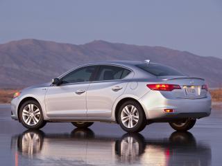 обои Acura ILX Hybrid 2012 бок серебро фото
