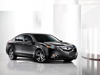 обои Acura TL 2008 черная фото