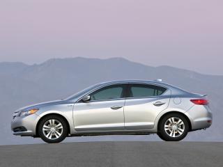 обои Acura ILX Hybrid 2012 серебро сбоку фото