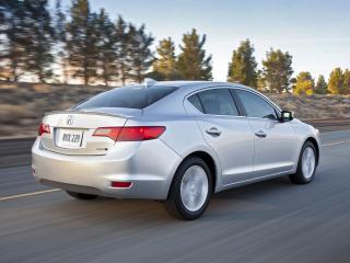 обои Acura ILX Hybrid 2012 серебро фото
