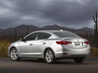 обои Acura ILX Hybrid 2012 стоянка фото
