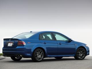 обои Acura TL Type-S 2007 синяя сбоку фото