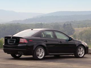 обои Acura TL Type-S 2007 черная сбоку фото