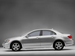 обои Acura RL 2004 серебро бок фото