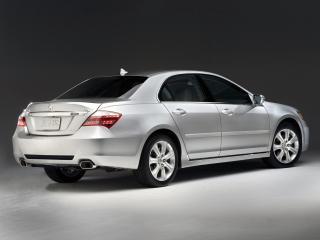 обои Acura RL 2008 серебристая фото