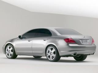 обои Acura RL Prototype 2004 серебро фото