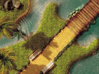 обои Остров в виде гитары фото