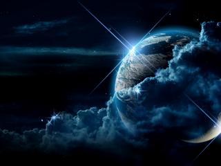 обои Космические блики планет фото