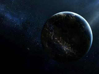 обои Космическое освещение планеты фото