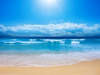 обои Песчаный берег моря фото