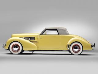 обои Cord 812 SC Convertible Coupe 1937 бок фото