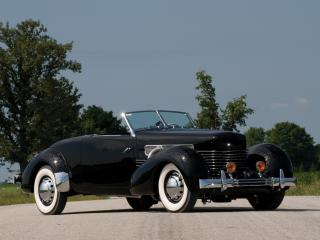 обои Cord 812 SC Convertible Coupe 1937 дорога фото