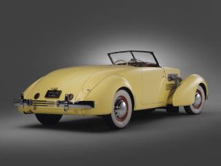 обои Cord 812 SC Convertible Coupe 1937 задок фото