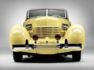обои Cord 812 SC Convertible Coupe 1937 низ фото