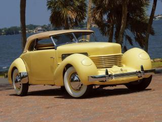 обои для рабочего стола: Cord 812 SC Phaeton 1937 пальмы