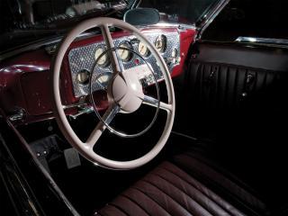 обои для рабочего стола: Cord 812 SC Phaeton 1937 салон
