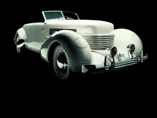 обои Cord 812 SC Phaeton 1937 темнота фото