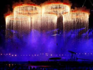обои Олимпийские огненные колца фото