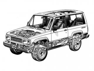 обои Isuzu Trooper 2-door 1986 схема фото