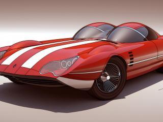 обои Рисунок авто красного фото