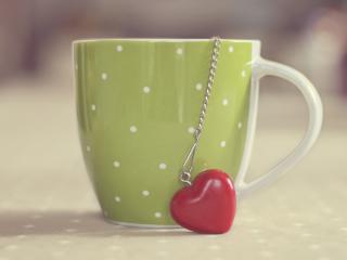 обои Брелок сердечко из чашки фото