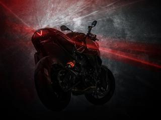 обои Графический рисунок мотоцикла красного фото