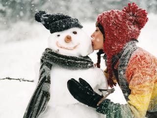 обои Любовь к снежному парню фото