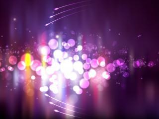 обои Блики на фиолетовом фоне фото