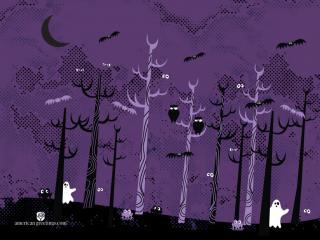 обои Лес с призраками фото
