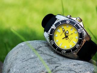 обои Часы SEIKO на камне фото