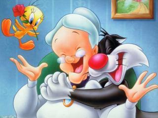обои Радость бабульки фото