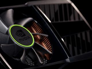 обои Логотип NVIDIA на кулере фото