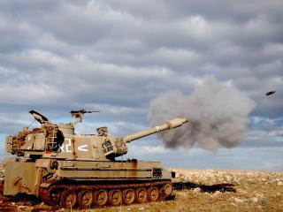 обои Выстрел из танка фото