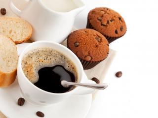 обои Кофе со сладостями фото