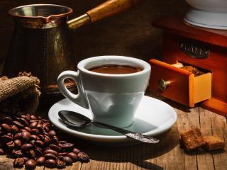 обои Кофе и сухарики фото