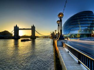 обои Красивый вид вечернего Лондона фото