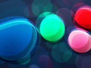 обои Разноцветные капли стекла фото