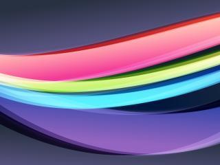 обои Изогнутые полосы радуги фото