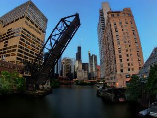 обои Чикагское издательство у поднятого моста фото