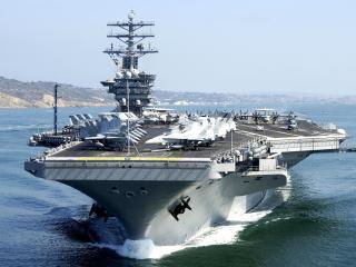обои Военная площадка на морском судне фото