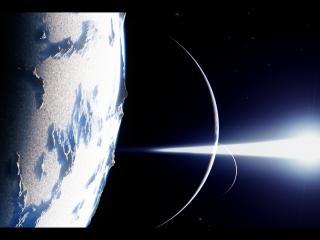 обои Лучи в космическом мире и планеты фото
